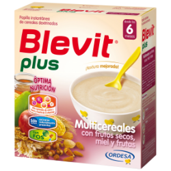 BLEVIT PLUS FRUT/SECOS MIEL FRUTAS 600 G