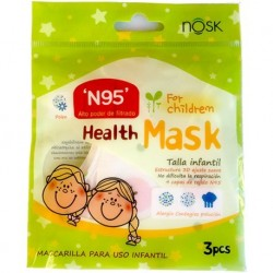 MASCARILLA INFANTIL COMPUESTA DE 4 CAPAS DE TEJIDO N95.