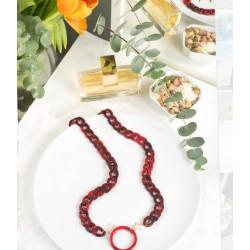 Cadena Aro roja farmamoda para colgar las gafas