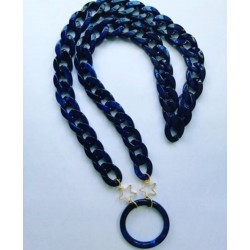 Cadena Aro azul farmamoda para colgar las gafas