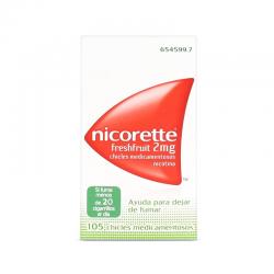 nicorette freshfruit 2 mg 105 chicles efg