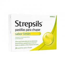 Strepsils Limón Sin Azucar 24 Pastillas