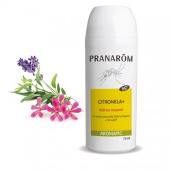 Roll-On Citronela Plus leche Pranarom