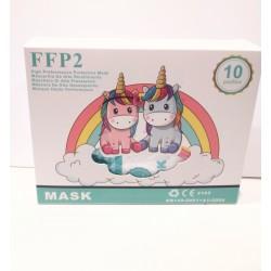 Mascarilla infantil ffp2 blanca 1 unidad