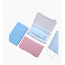 Portamascarillas rosa, azul, blanco antibacteriano