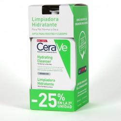 Pack Cerave limpiador hidratante 473ml 25% dto en 2ª unidad