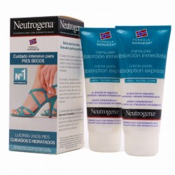 Neutrogena Crema de Pies Absorción Inmediata 100ml+100ml 60%Dto 2ªUd Gratis