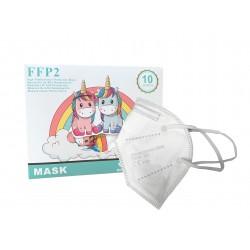 Mascarilla ffp2 blanca infantil 10 unidades