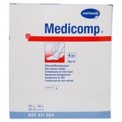 COMP MEDICOMP 10 CM X 10 CM 25 UDS